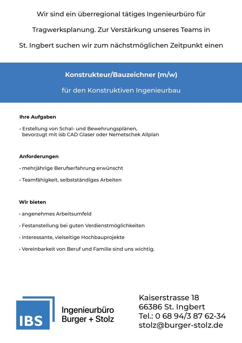 IBS_Burger_Stolz_Ingenieur_Buero_Stellenausschreibung